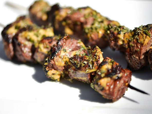 Kebabs just got way more awesome: these lamb kebabs are made with leg of lamb and a lemon-based marinade, crusted with herbs after searing.