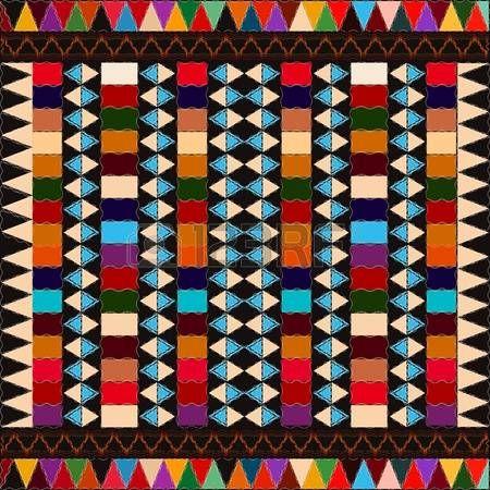 Am�ricaine mod�le indien ethnique avec des �l�ments multicolores, l'art abstrait. photo