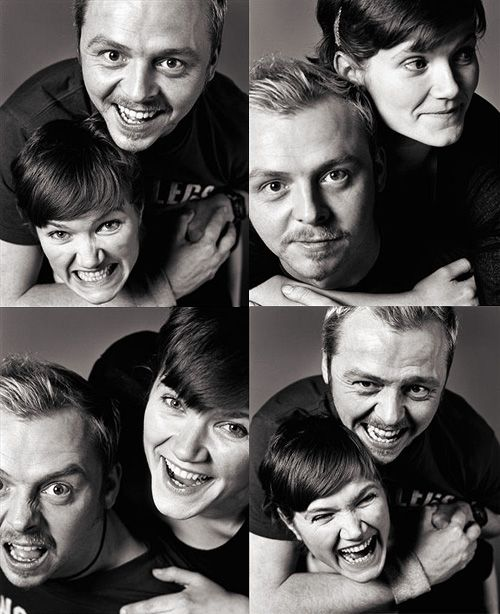 Simon Pegg and Jessica Hynes~If you haven't watched Spaced you should.