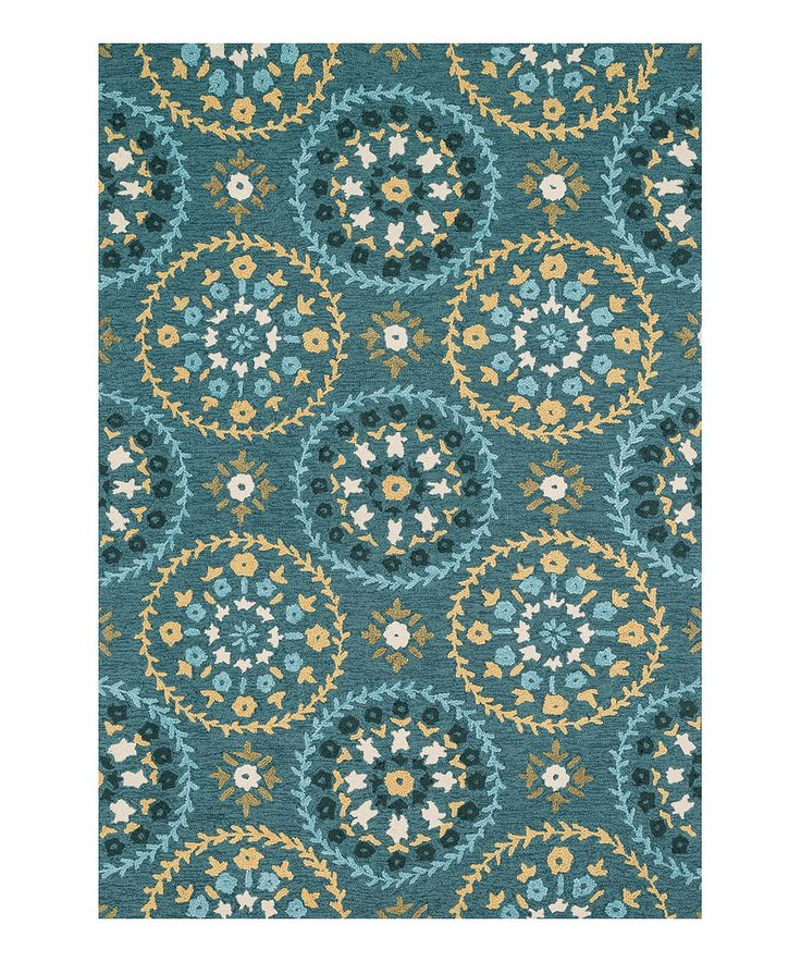 Look At This #zulilyfind! Teal & Gold Juliana Rug By Loloi
