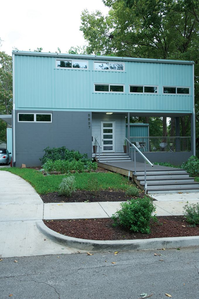 Turquoise gray and modern debbie glassberg and todd nelson kansas city home goods - Bob vila shipping container homes ...