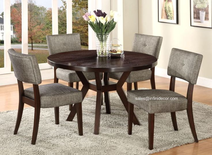 Shop For The Acme Furniture Drake Espresso 5 Piece Dining Set At Household
