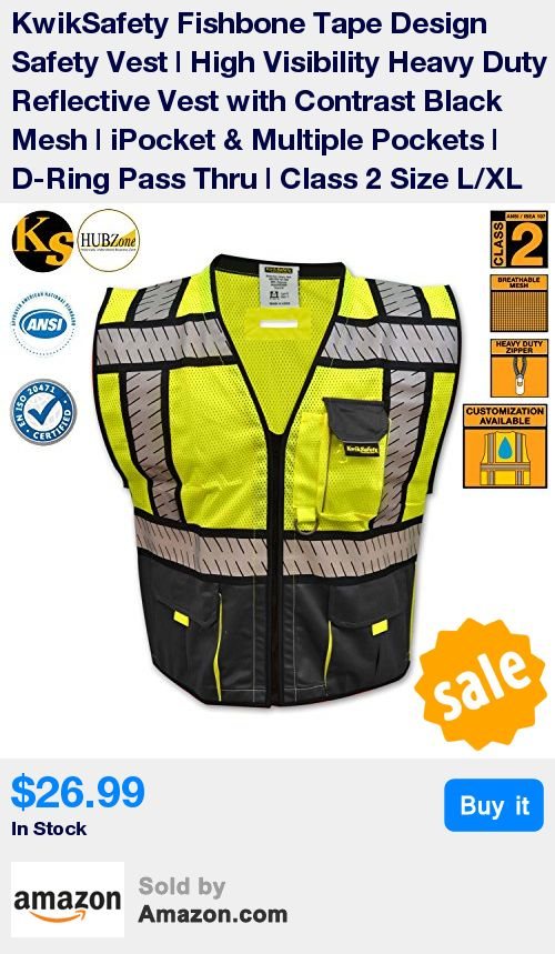 CUSTOMIZATION: KwikSafety provides customization on all our apparel products. Our minimum order quantity is 25 pieces. This will help you receive the best price. Also, our standard shipping is FREE. For more inquiries, please contact sales@kwikspace.com. * UNISEX: This fishbone tape design safety vest is great for both men and women. Our unisex size chart will help you determine your perfect fit! Our sizes available are small, medium, large and extra-large. To better understand the right…