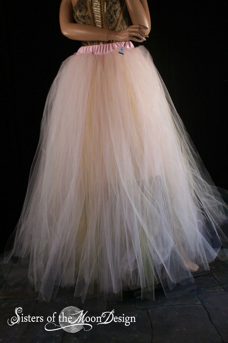 Streamer floor length adult tutu tulle skirt formal Bridal wedding princess ball dance prom carnival - You Choose Size - Sisters of the Moon by SistersOfTheMoon on Etsy https://www.etsy.com/listing/116058260/streamer-floor-length-adult-tutu-tulle