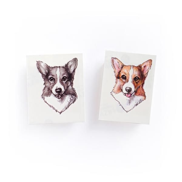 LAZY DUO Corgi pet dog puppy Romantic Party Temporary Tattoo Nature Art Ink Idea Sticker Sweet Ribbon Bow boho graphic bunny rabbit tiny Temporal tatuaje bird tattoosticker TATTOOSHOP tattoos tattooist pink romantic cat design tatto Tatouage temporaire tatoos tatoo tat stickers plant nature moon little Galaxy line illustration artist girl flower floral fake drawing dot work deer Love couple colorful WATERCOLOR color black Bambi artistic animal candy