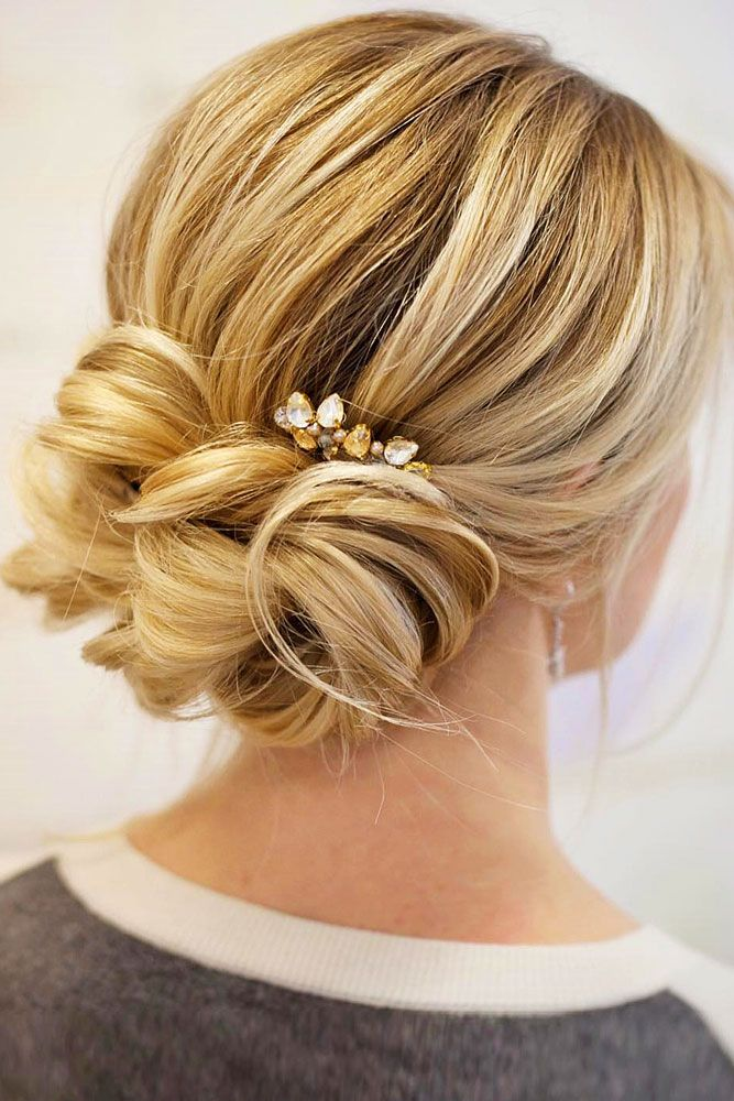 18 Gorgeous Wedding Bun Hairstyles ❤We created a list of wedding bun hairstyles, where you can find the variant for your satisfaction. See more: http://www.weddingforward.com/wedding-bun-hairstyles/ #weddings #hairstyles