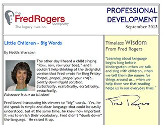 Professional Resources Provided by Fred Rogers