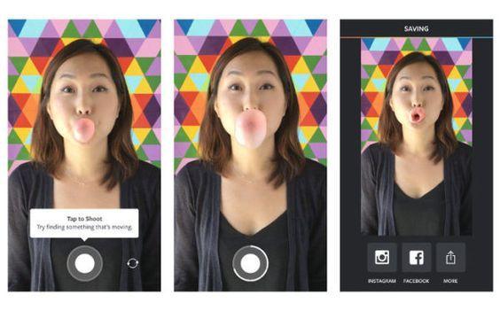 app para tomar fotos y subirlas a instagram:Boomerang