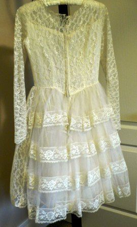 vintage wedding Short  VINTAGE WEDDING DRESS  by LandLockedCottage, $175.00