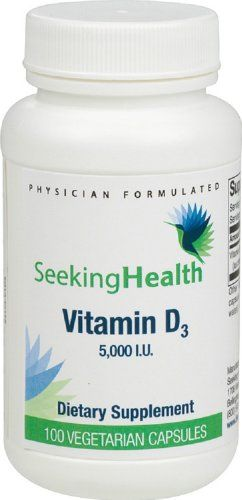 awesome 5,000 IU Vitamin D 3 | 100 Vegetarian Capsules | Free of Magnesium Stearate and Common Allergens