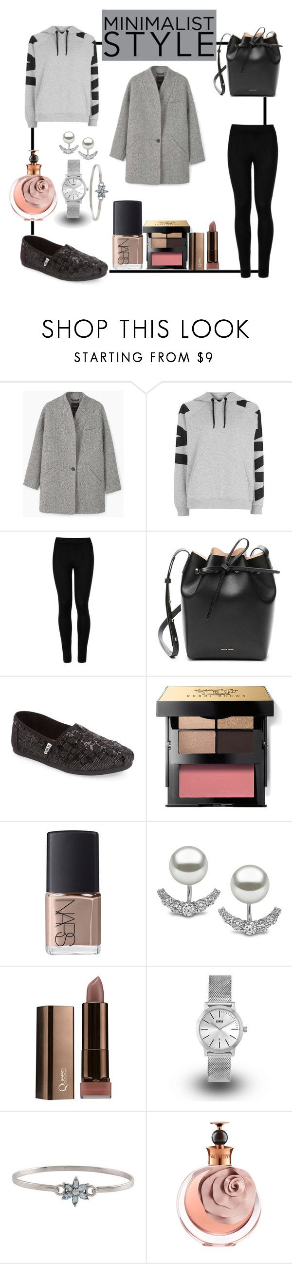 """Minimal Style"" by lafeur ❤ liked on Polyvore featuring MANGO, Topshop, Wolford, Mansur Gavriel, TOMS, Bobbi Brown Cosmetics, NARS Cosmetics, Yoko London, KENNY and NOVICA"