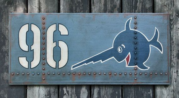 NEW Hand crafted wooden sign 'U96 Das Boot' Film by VASSdesign