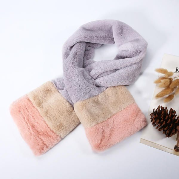 Women Rex Rabbit Plush Velvet Patchwork Warm Elegant Collar Scarve at Banggood  women fashion accessories