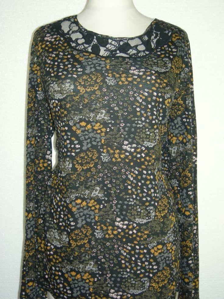 #Taifun St. Germain #bloest-shirt bloemenprint en zwarte kant