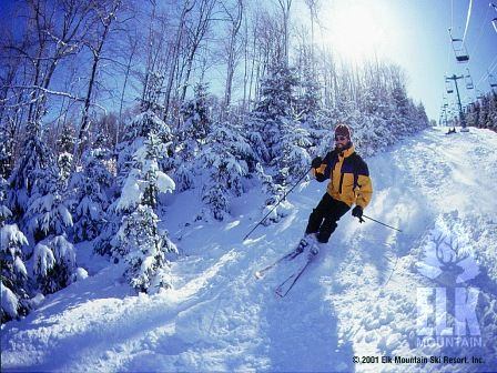 The Elk Mountain #ski resort in Union Dale is one of PA's premier resorts for avid skiers and snowboarders. The resort offers a variety of terrain ideal for beginners through experts.