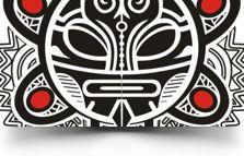 tribal sun taino tattoo design