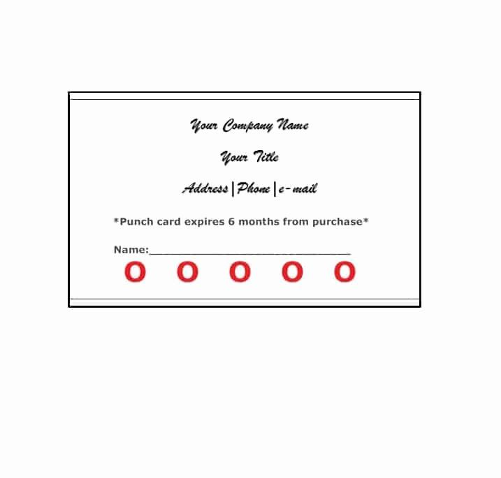 Punch Card Template Free Elegant 30 Printable Punch Reward Card Templates Free Punch Cards Card Templates Loyalty Card Template