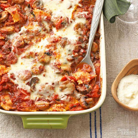 Do as the Italians do: Take lasagna beyond noodles and tomatoes by blending a glass of Tuscan Chianti into your homemade sauce. The full-bodied, dry red wine lends elegant authenticity to utterly satisfying sausage-mushroom pasta.