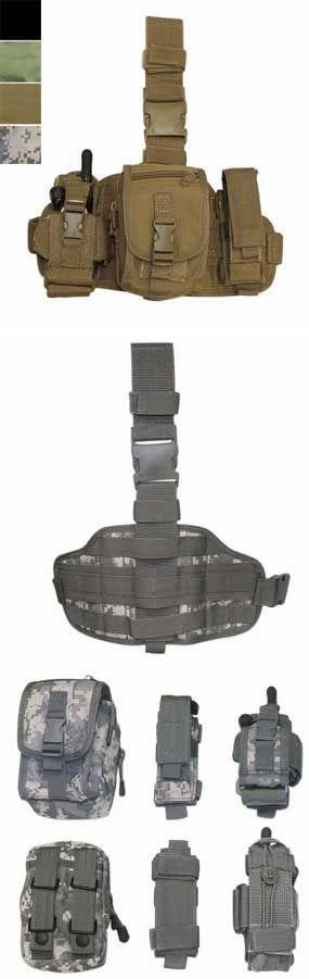 Condor Tactical Utility Drop-Leg Rig Set - Black, Tactical Gear/Apparel, Pouches, Black Pouches - Evike.com Airsoft Superstore