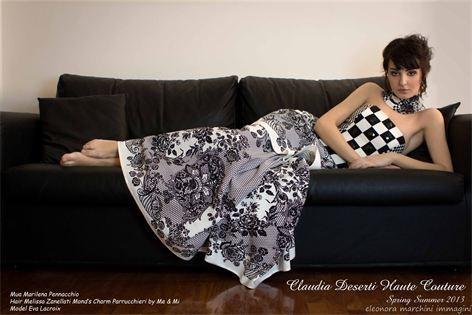 Claudia Deserti - Collezioni Ph Eleonora Marchini Immagini Mua Marilena Pennacchio Hair Melissa Zanellati Mond's Charm parrucchieri by Me & Mi Model Eva Lacroix