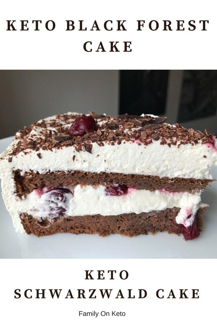 KETO BLACK FOREST CAKE KETO LCHF SCHWARZWALD CAKE