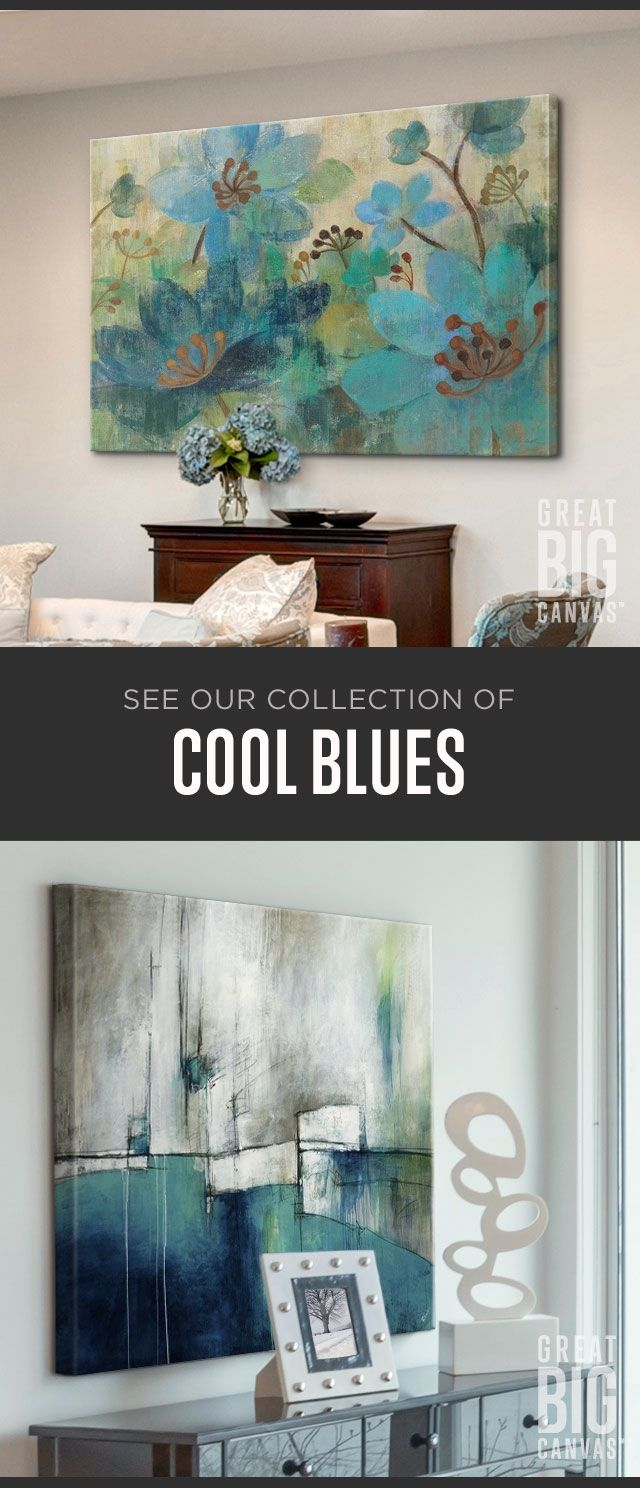 Find Blues in every shade, from tones with vibrant rhythm and soul to quiet, cloud-streaked morning sky. Explore our collection of best selling blue themed wall art at GreatBIGCanvas.com.
