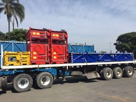 PT Engineering Magazine Bunkers, Radio Active Boxes and  Tool Pallets leaving our yard.