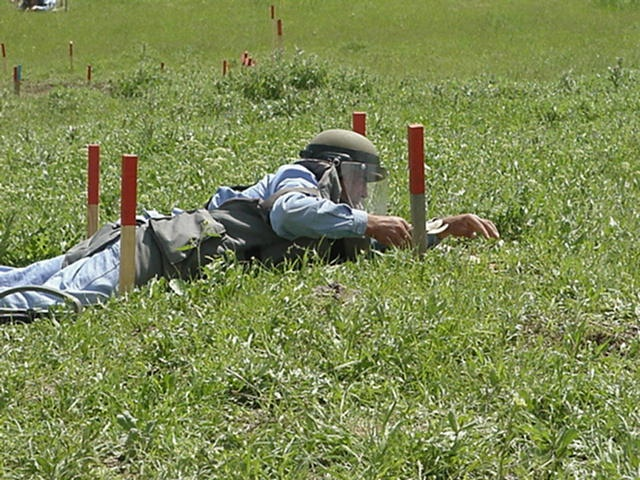 Painstaking mine clearance by UNDP in Europe and Central Asia, via Flickr