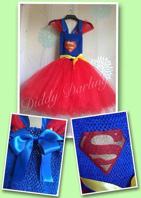 Superman Tutu Dress. Supergirl Tutu Dress. by DiddyDarlings