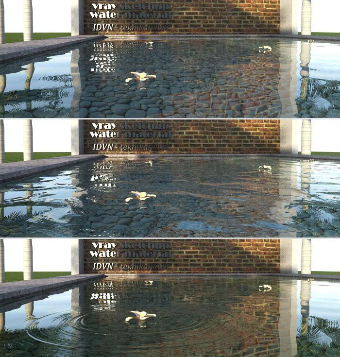 Nomeradona SketchUp VR: Tutorial: Water Ripples in Vray Sketchup