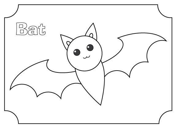 A Simple Bat Coloring Page Bat Coloring Pages Coloring Pages Color
