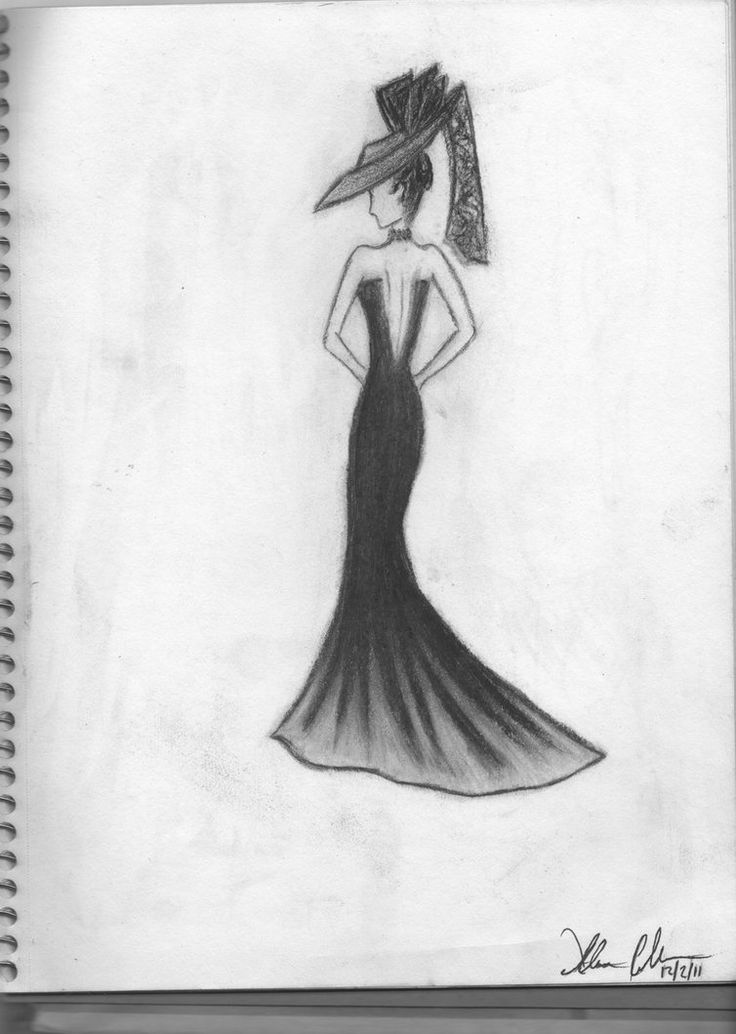 simple drawing of girl in dress - Google Search | Art ...