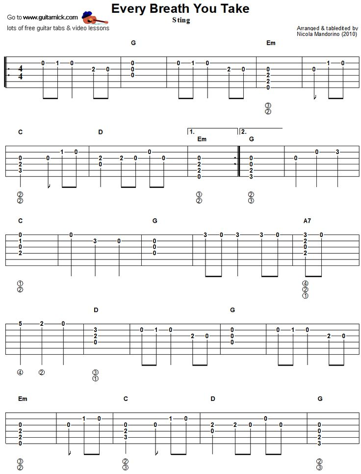 9 Best Guitar Tabs Images On Pinterest Guitar Chord Guitar Chords