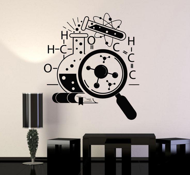 Vinyl Wall Decal Science School Chemistry Scientist Stickers Murals (ig4745)