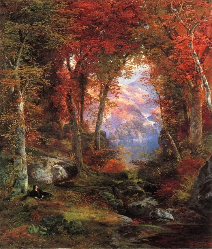 The Autumnal Woods by Thomas Moran