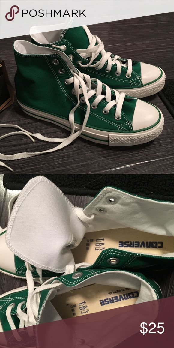 Green Converse High Top Sneakers Men's size 7, Women's 9. Brand new, never worn. Feel free to ask if you have any questions. H&M Shoes Sneakers