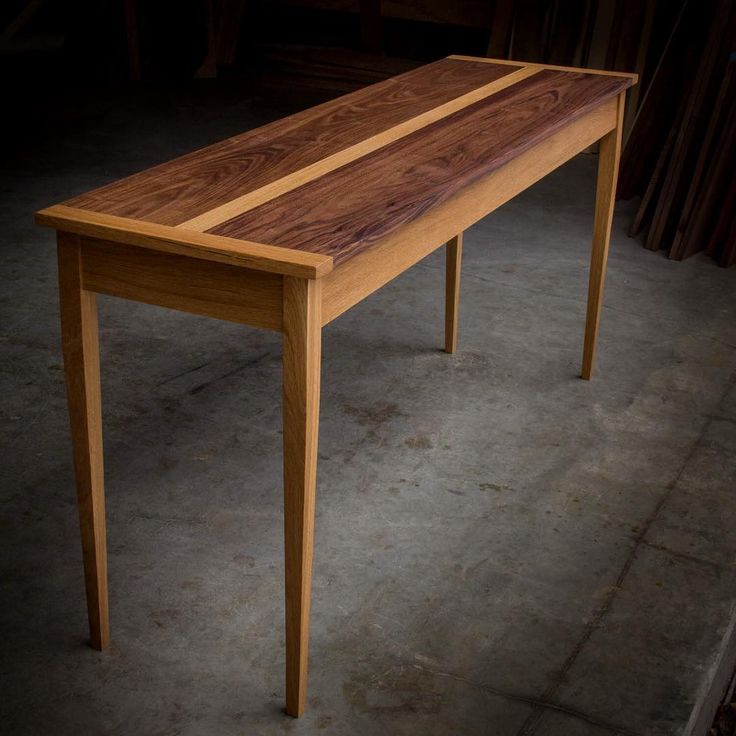 This Walnut And White Oak Console Table Is 5u0027 Long And Just Stunning In  Person · Wood TablesConsole TablesSolid ...