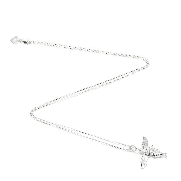 This stunning 925 sterling silver My Guardian Angel Necklace will finish off any outfit perfectly. Designed with ANNIE HAAK's signature charm, the angel that will guide & protect you http://www.anniehaakdesigns.co.uk/gili-my-guardian-angel-necklace