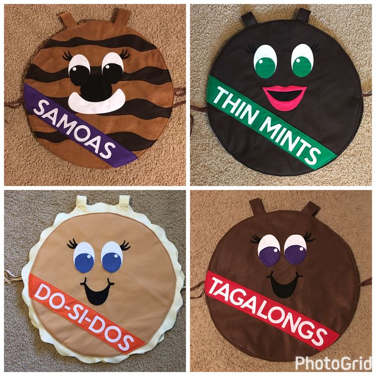 Girl Scout Cookie Costumes by Kre8tionsbyKathy on Etsy https://www.etsy.com/listing/499442506/girl-scout-cookie-costumes