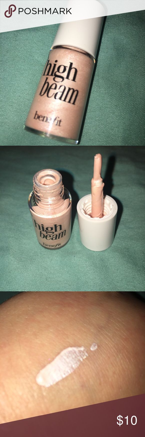 Benefit high beam Benefit slightly pink complexion highlighter 75% left bought a big one so don't need two Benefit Makeup Luminizer