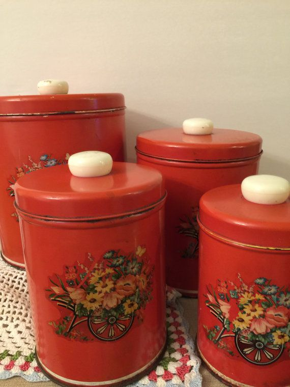 Ideas About Red Canisters On Pinterest Kitchen Canisters Canisters