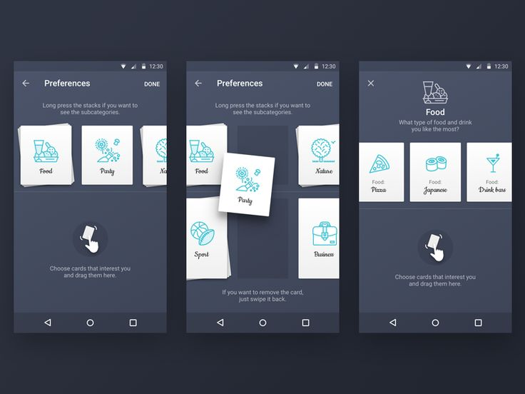 Preferences Android App Concept