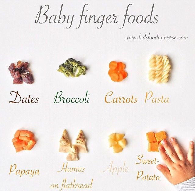 Finger Food Ideas For A  Month Old Baby