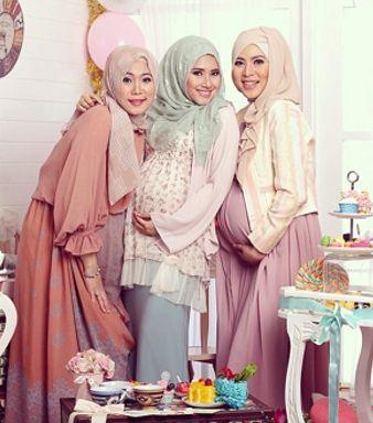 Ini Dia Model Baju Muslim Pesta untuk Para Ibu Hamil.. - Para ibu hamil yang berencana menghadiri acara pesta, alangkah lebih baik memilih model baju muslim ...