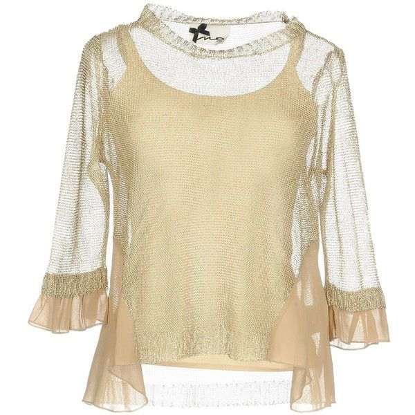 No Secrets Jumper ($72) ❤ liked on Polyvore featuring tops, sweaters, platinum, lightweight sweaters, long sleeve tops, extra long sleeve sweater, beige long sleeve top and beige sweater