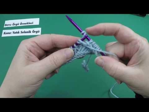 Yatık Selanik Örneği - Daha önce keşfedilmemiş yeni bir selanik tekniği - Örgü Örnekleri - YouTube