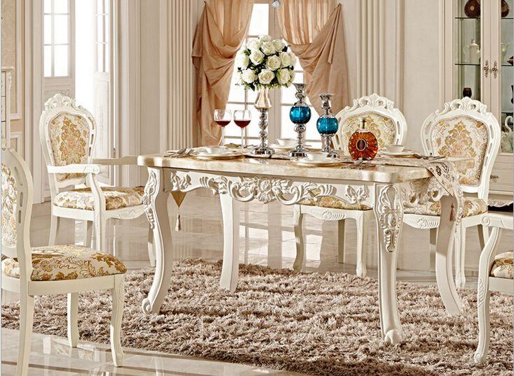 Comparar Preços de Antique Wood Dining Table - Compras on-line ...