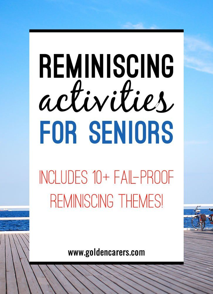 Reminiscing with the elderly is a wonderful way to validate the lives of individuals and provide seniors with a sense of purpose, especially those suffering from dementia.  Reminiscing activities  also encourages social interaction and promote interpersonal skills.
