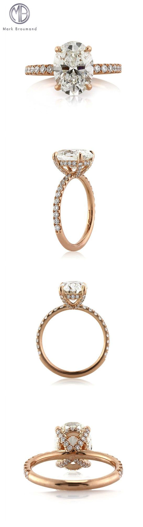 This luminous 3.01ct oval cut diamond engagement ring will truly take your breath away.