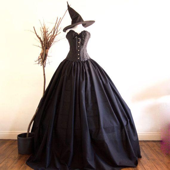 Women's Wizard of Oz Evil Witch Costume, Villain Party Fancy Dress, includes Hat Various Sizes